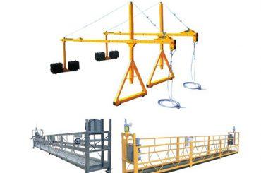 Piattaforma sospesa in corda elettrica in alluminio 2 * 2.5m con potenza motore 1.5kw