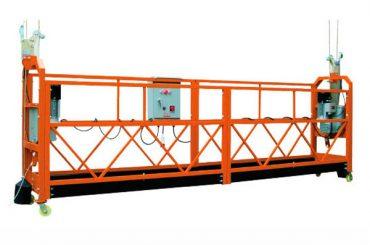2.5M x 3 Sezioni 1000kg Piattaforma di accesso sospesa Velocità di sollevamento 8-10 m / min
