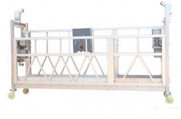 Piattaforma di lavoro sospesa alluminio galvanizzata calda ZLP630 verniciata acciaio per la pittura di costruzione della facciata