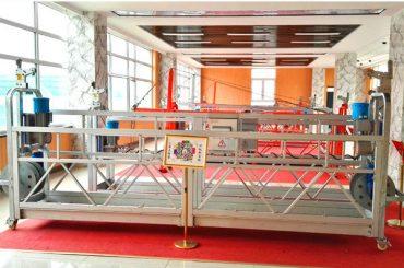 Piattaforma sospesa in alluminio ZLP630 (CE ISO GOST) / attrezzature per la pulizia di finestre a vita alta / gondola temporanea / culla / altalena hot