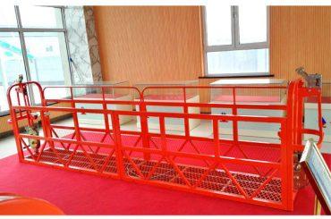 piattaforme di accesso sospeso d'acciaio 7.5m 1.8kw 800kg manutenzione di edifici