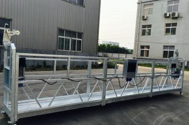piattaforma sospesa a fune in lega di alluminio regolabile zlp 800 per lavori di ristrutturazione / verniciatura