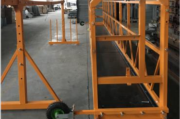 pulizia della piattaforma sospesa piattaforma di lavoro di sicurezza zlp 630 con paranco ltd6.3