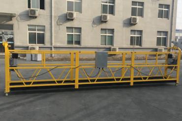 gondola elettrica sospesa in alluminio certificato zlp630 per edilizia